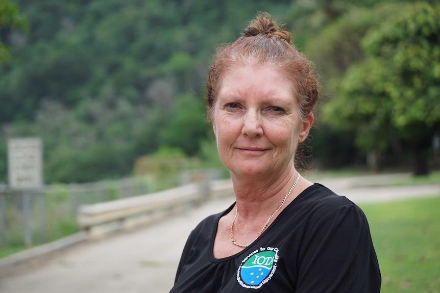 Roxanne Wilson, a museum attendant on Christmas Island.