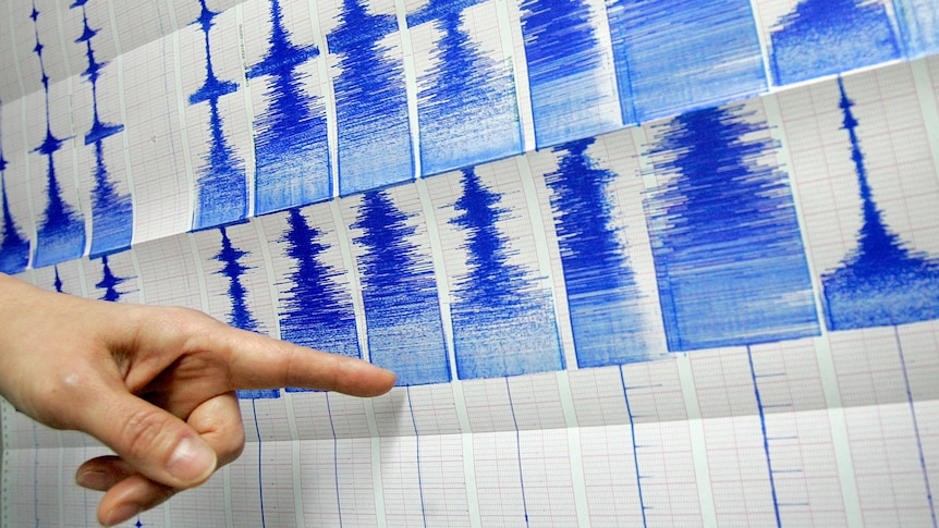 Finger points to Richter scale