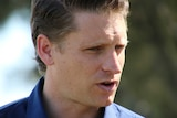 Close up of Andrew Hastie's face as he speaks.
