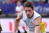 Simon Orchard in action for the Kookaburras