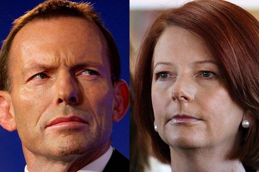 Tony Abbott and Julia Gillard