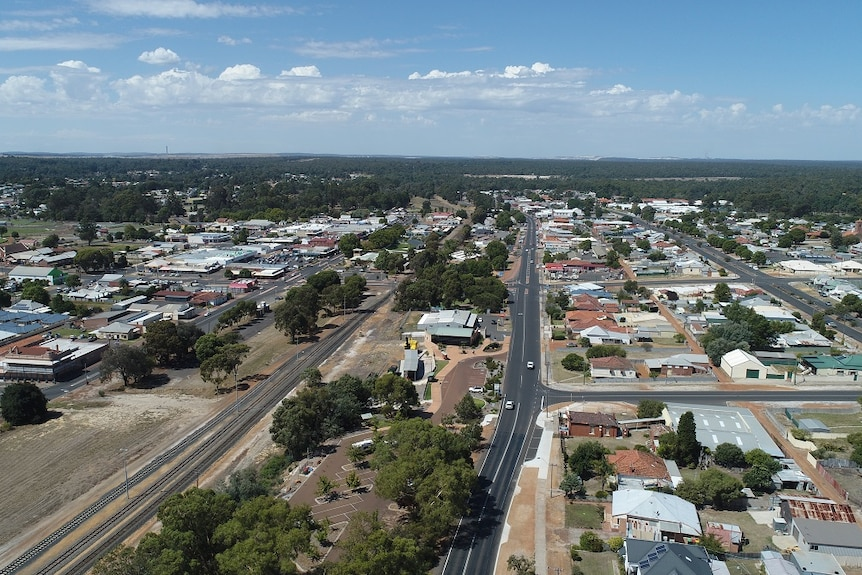 Collie's coal mines lie 200 kilometres south east of Perth, surrounded by forest and farmland.