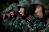 Chinese troop demonstration