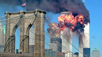 The second tower of the World Trade Center explodes in New York, September 11, 2001. (Reuters: Sara K. Schwittek)