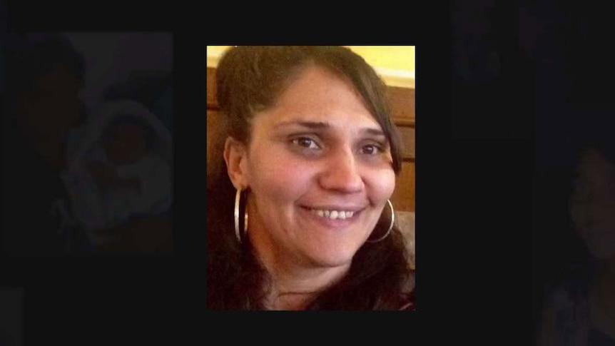 Photos of missing indigenous women on black background