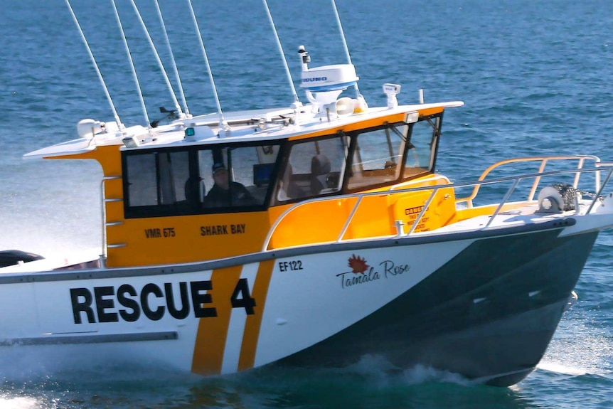 The Shark Bay Volunteer Marine Rescue vessel on the water.