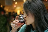 woman drinking red wine alcohol wine bar generic thumbnail