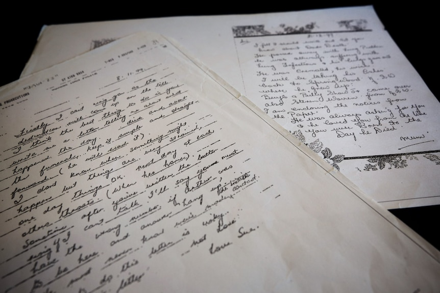 The letter Susan Thomson wrote to her mother and the reply