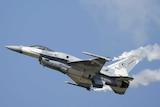 UAE airforce F-16 jet