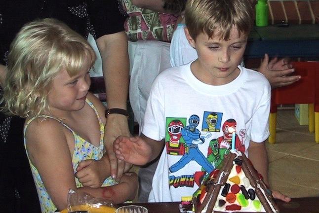Jessica Konecny aged seven with a rash on her arm