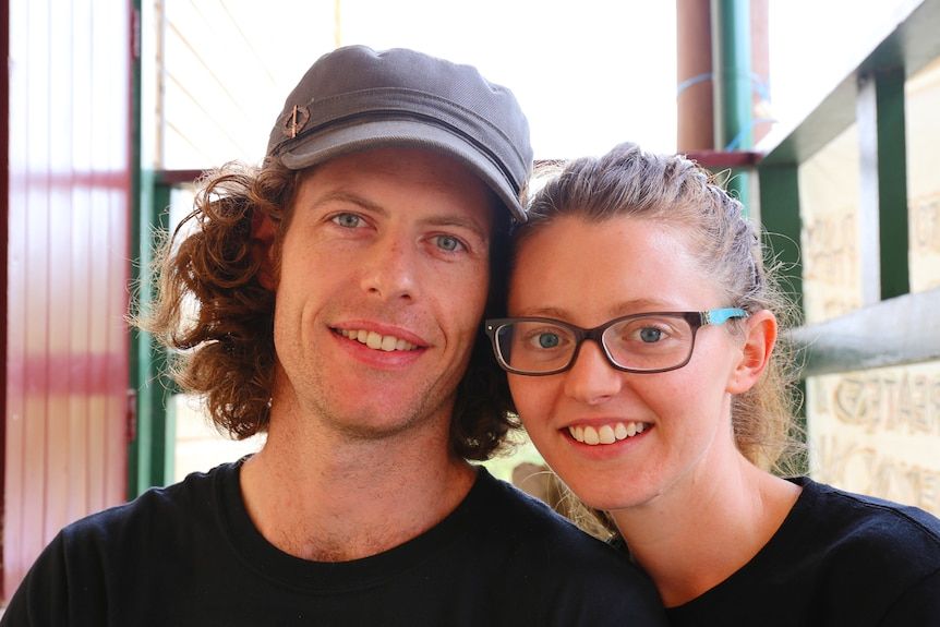 Medicinal cannabis supporters Michael Harding and Rebecca Houghton