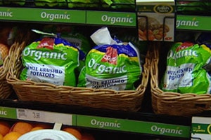 Organic vegetables at the supermarket