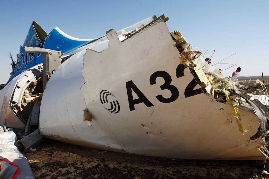 Russia's Emergency Ministry picture shows the wreckage of a A321 Russian airliner in Egypt on November 1, 2015.