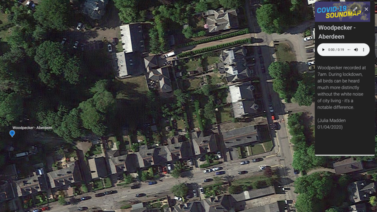 An aerial shot from google earth of roofs in a suburban area