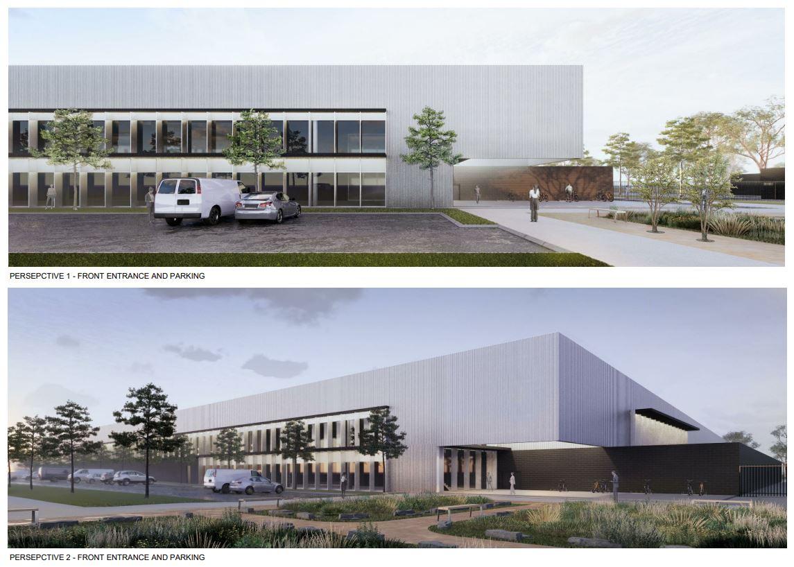 Artist impression - FFI green energy hydrogen manufacturing facility.