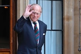 Britain's Prince Philip The Duke of Edinburgh arrives for a ceremony for the transfer of the Colonel-in-Chief of the Rifles.