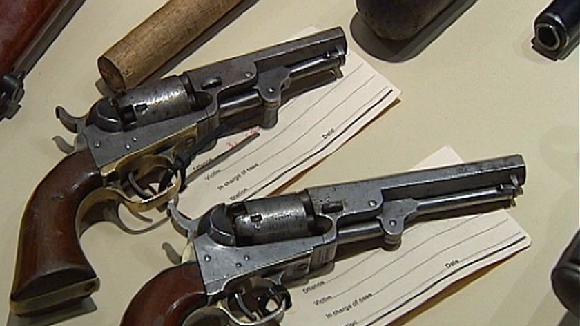 These pistols from the 1840's will be given to a museum.