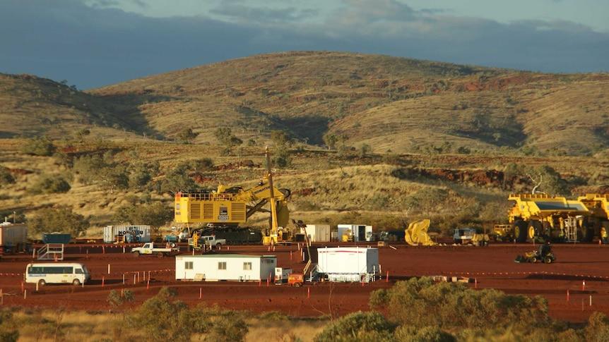 A remote mining camp in the Pilbara.