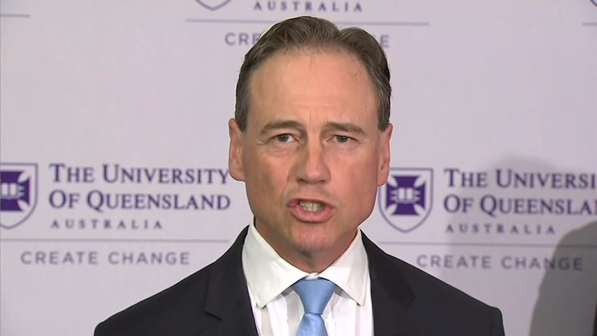 """Greg Hunt says data from vaccines are showing """"strong safety and outcomes"""" in antibody responses"""