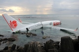 Lion Air plane submerged in the water near Bali airport