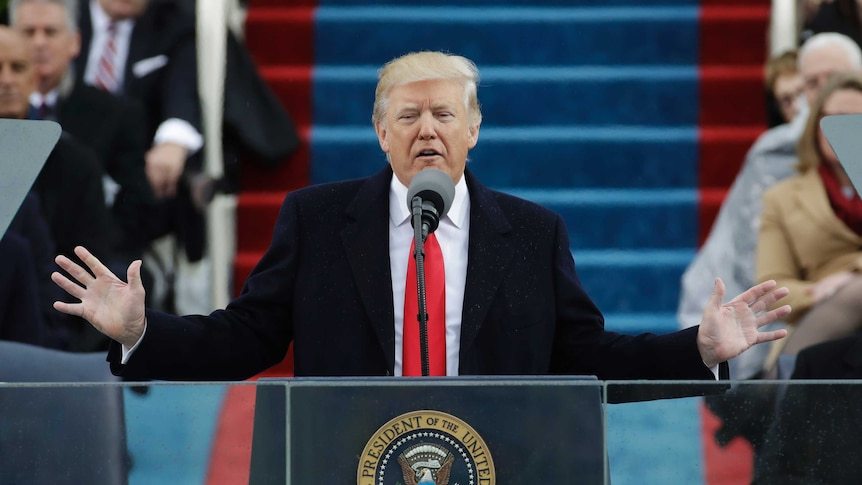 President DonaldTrumpdelivers his inaugural address