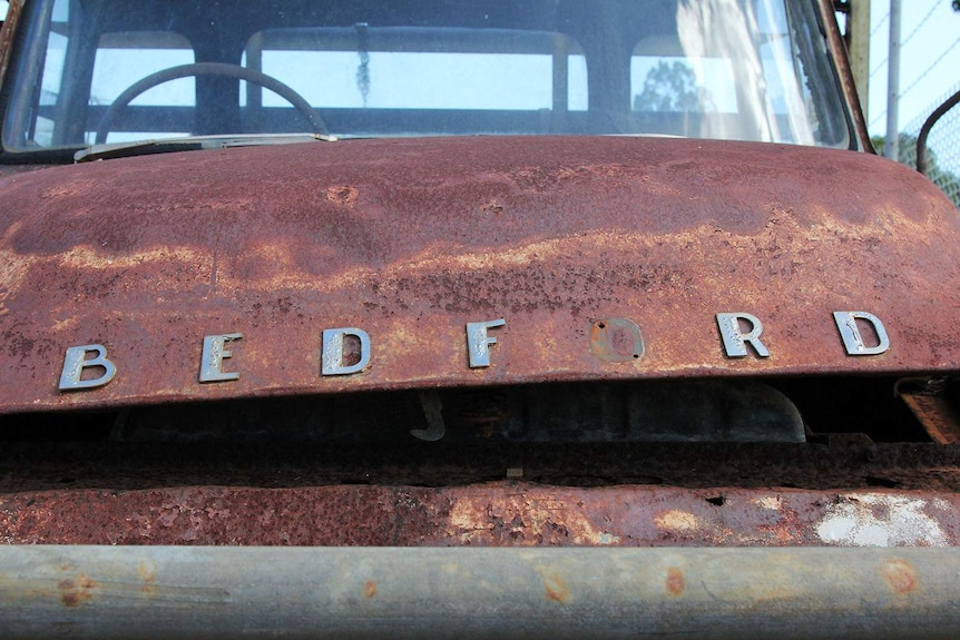 an old truck's fender