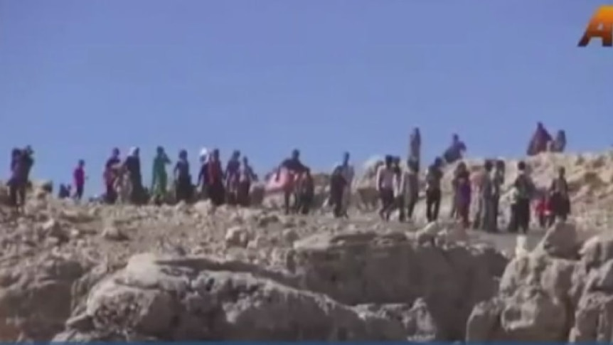 Thousands of Yazidis flee to Iraqi mountains to escape violence