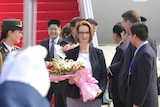 Julia Gillard arrives in Hainan, China