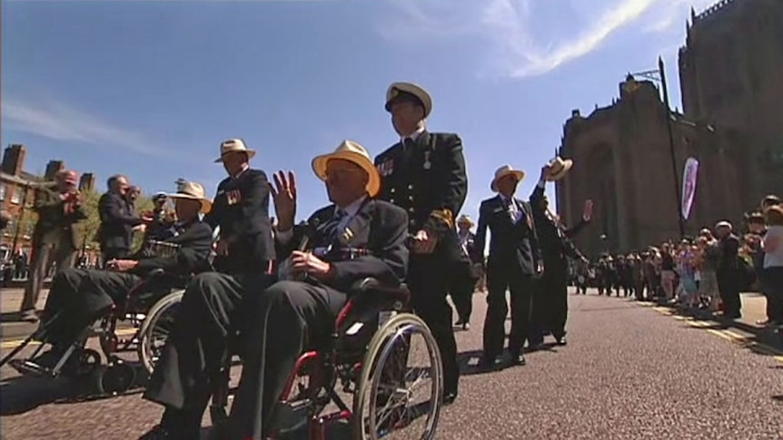 Australian veterans make an emotional return to the UK for the 70th anniversary of the Battle of the Atlantic