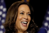Democratic vice presidential candidate Senator Kamala Harris speaks at a campaign event