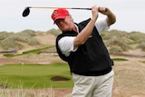 Donald Trump at Trump International Golf Links in Scotland