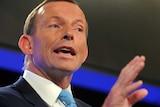 Tony Abbott at the National Press Club.