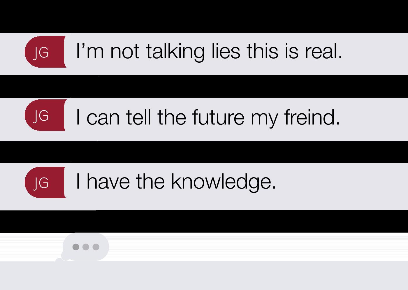 Text messages between Gargasoulas and Gentner