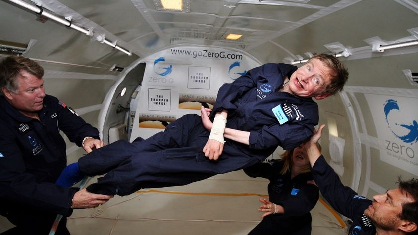 "Stephen Hawking... ""our future is in space"""