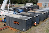Diesel generators being installed at Catagunya