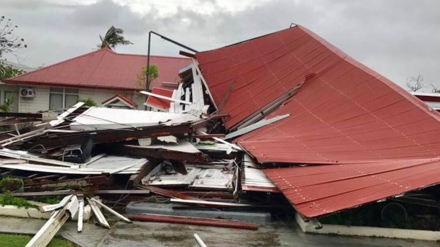Tonga's Parliament was among the buildings destroyed (Photo: Twitter/Lord Fusitu'a)