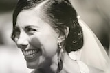 Hannah Clarke on her wedding day.