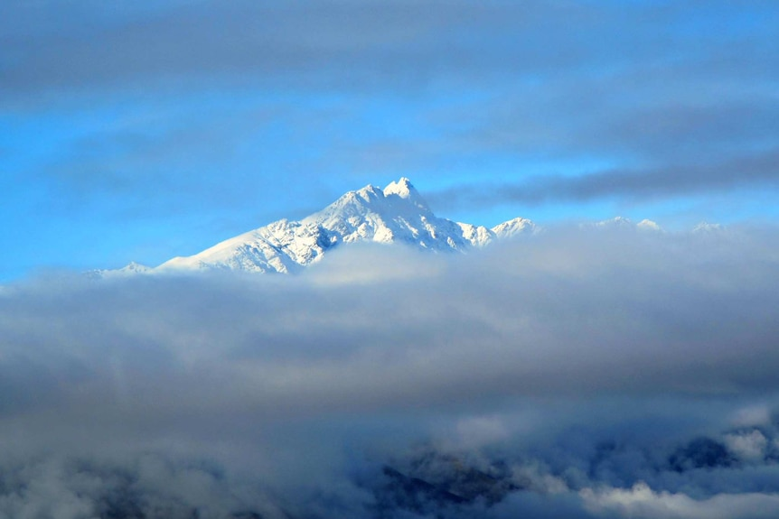 The peak of The Remarkables Mountain Range