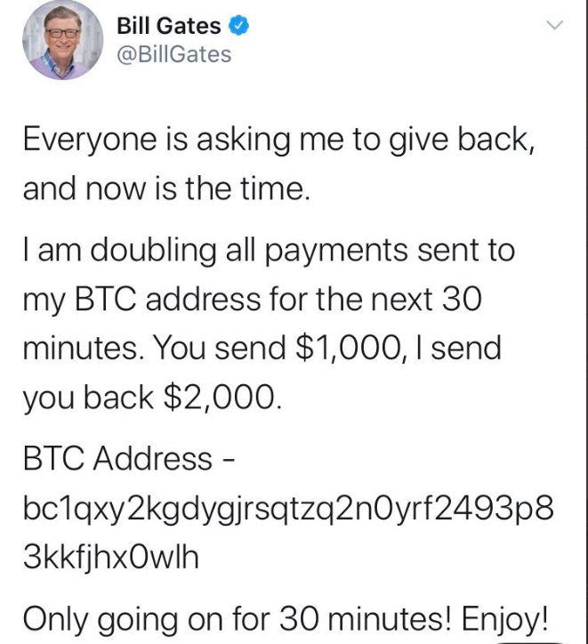 Bill Gates, Twitter, hack, bitcoin