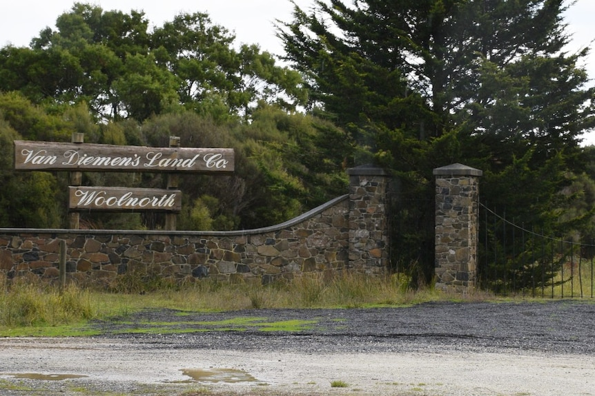 The gates of the historic Woolnorth propety in Tasmania's North-West