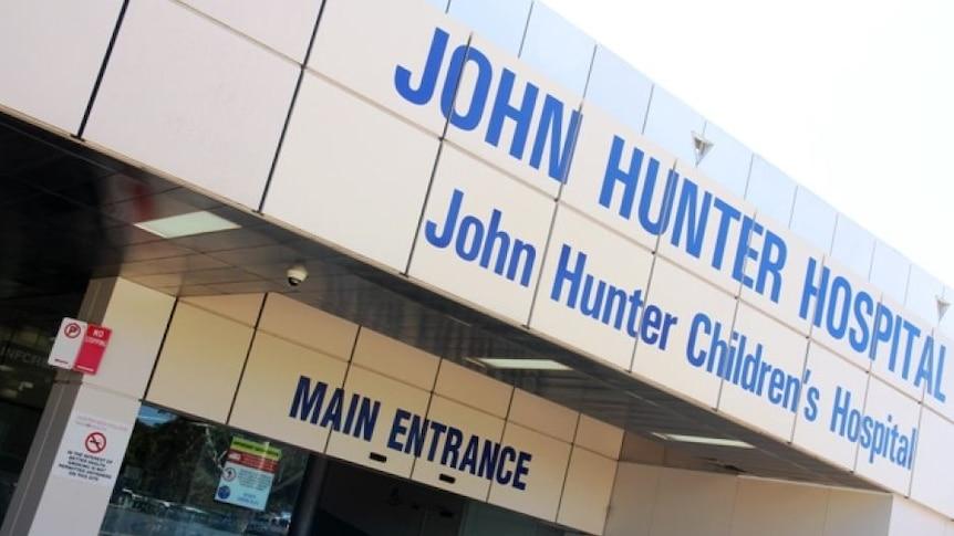 The entrance to John Hunter hospital
