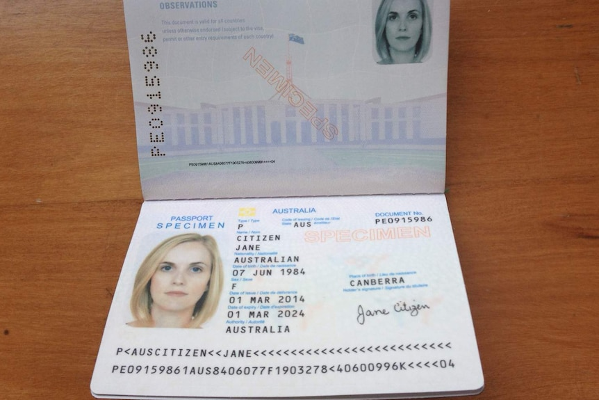 New Australian passports feature a world-first colour 'floating image' to increase security.