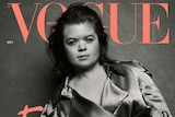 Sinead Burke on the cover of British Vogue magazine.