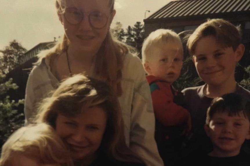 Jenny Blake with her children