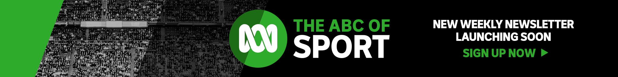 The ABC of Sport. New weekly newsletter launching soon. Sign-up now