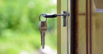 Keys in the lock.
