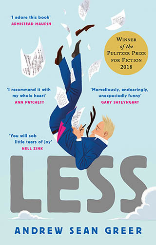 Colour image of the book cover of Less by Andrew Sean Greer.
