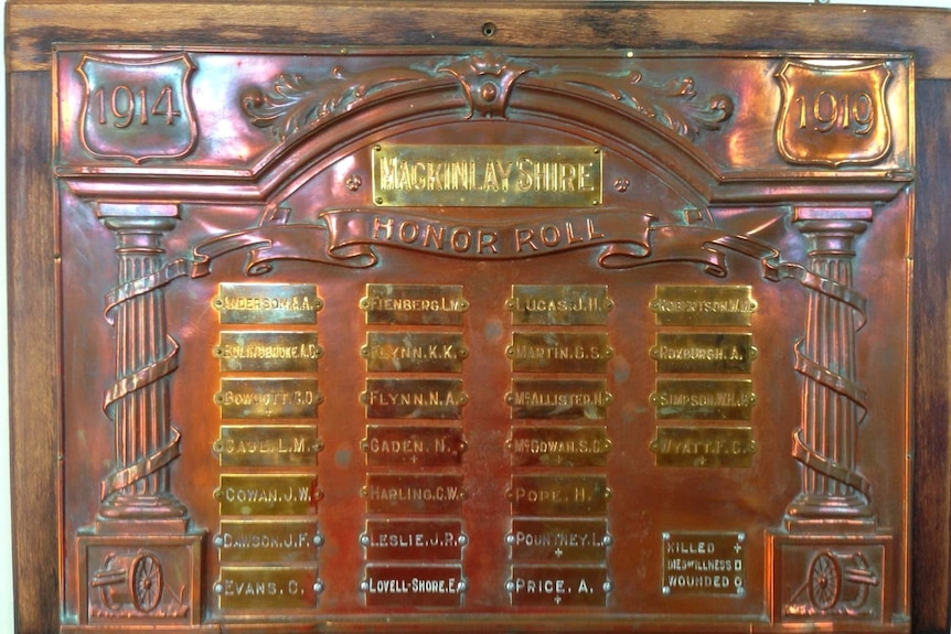 McKinley Shire honour roll