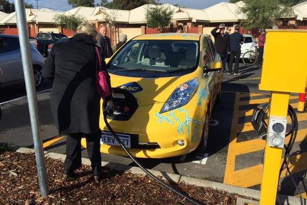 Electric car charging station WA