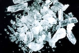 The synthetic drug methamphetamine, otherwise known as Ice